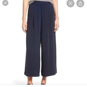 Madewell Caldwell crop wide leg trousers navy XS